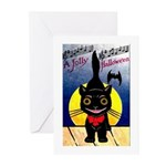 Black Cat Halloween Greeting Cards (Pk of 20)