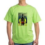 Black Cat Halloween Green T-Shirt