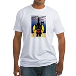 Black Cat Halloween Fitted T-Shirt