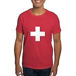 Swiss Cross-1 Men's Dark T-Shirt