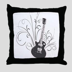 Cool guitar Throw Pillow