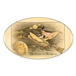 Flying Witch Oval Sticker
