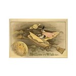 Flying Witch Rectangle Magnet (100 pack)