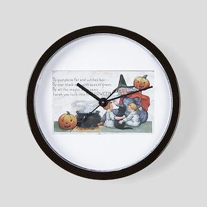 Witch & Cauldron Wall Clock