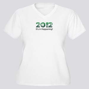 2012 Happening Women's Plus Size V-Neck T-Shirt