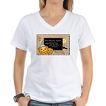 Halloween Wizards Women's V-Neck T-Shirt