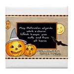 Halloween Wizards Tile Coaster