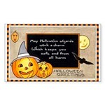 Halloween Wizards Rectangle Sticker 50 pk)