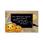 Halloween Wizards Rectangle Magnet