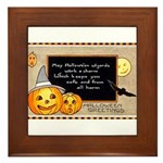 Halloween Wizards Framed Tile