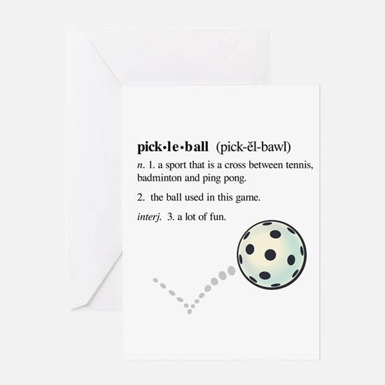 pickleball definition with ba Greeting Card