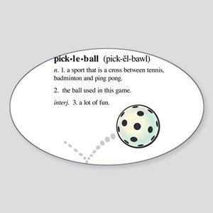 pickleball definition with ba Oval Sticker