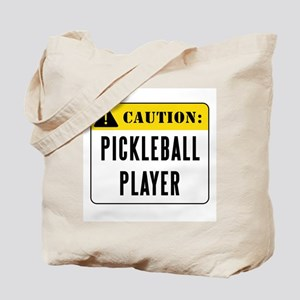 Caution Pickleball Player Tote Bag