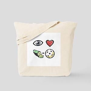I Love Pickleball Tote Bag