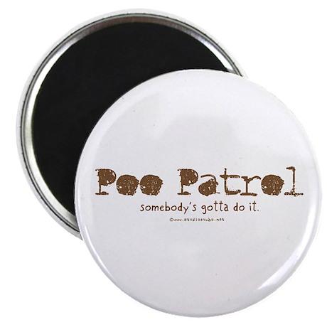 """Poo Patrol Nurse 2.25"""" Magnet (100 pack)"""