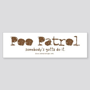 Poo Patrol Nurse Bumper Sticker