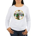 XmasMusic1MC/Greyhound Women's Long Sleeve T-Shirt