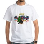 XmasMusic1MCL/Cavalier King Charles(F) White T-Shi