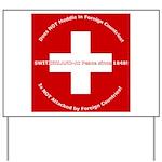 Swiss Cross/Peace Yard Sign