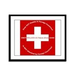 Swiss Cross/Peace Framed Panel Print