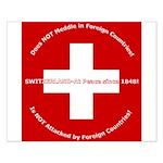 Swiss Cross/Peace Small Poster