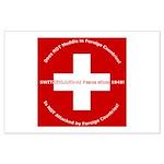 Swiss Cross/Peace Large Poster