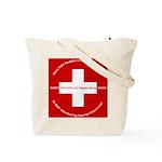 Swiss Cross/Peace Tote Bag