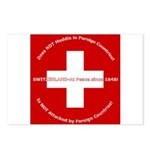 Swiss Cross/Peace Postcards (Package of 8)
