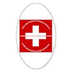 Swiss Cross/Peace Oval Sticker (50 pk)