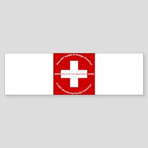 Swiss Cross/Peace Bumper Sticker