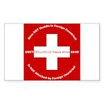 Swiss Cross/Peace Rectangle Sticker