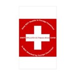 Swiss Cross/Peace Rectangle Sticker 50 pk)