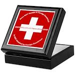 Swiss Cross/Peace Keepsake Box