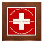 Swiss Cross/Peace Framed Tile