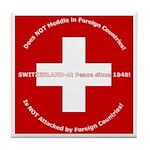 Swiss Cross/Peace Tile Coaster
