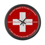 Swiss Cross/Peace Large Wall Clock