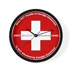 Swiss Cross/Peace Wall Clock
