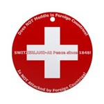 Swiss Cross/Peace Ornament (Round)