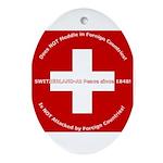 Swiss Cross/Peace Oval Ornament