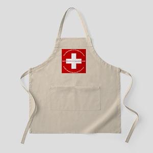 Swiss Cross/Peace BBQ Apron