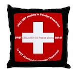 Swiss Cross/Peace Throw Pillow