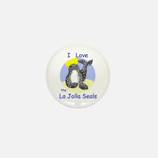 La Jolla Seals Mini Button