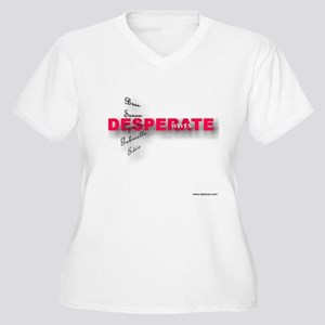 Dwives Women's Plus Size V-Neck T-Shirt