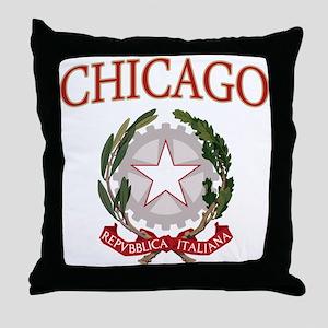 Chicago Italian Logo Throw Pillow