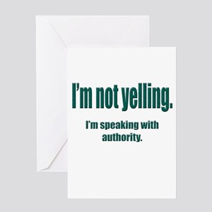 Authority Greeting Card