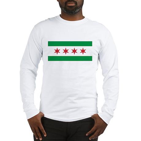 Italian Chicago Flag Long Sleeve T-Shirt