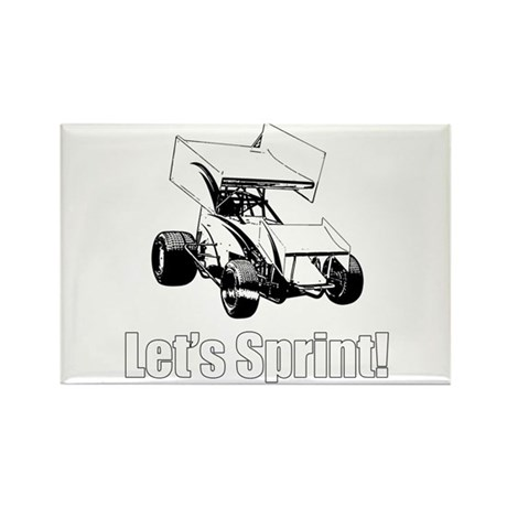 Let's Sprint! Rectangle Magnet (100 pack)