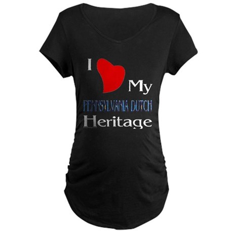 Pennsylvania Dutch Heritage Maternity Dark T-Shirt