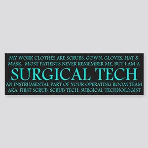 Surgical Technologist Bumper Sticker