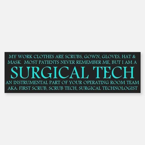 Surgical Technologist Bumper Bumper Bumper Sticker